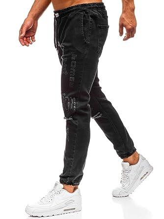 Hose Jeans Freizeithose Denim Clubwear Classic Casual Herren BOLF 6F6 Motiv