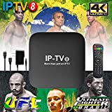 2019 Newest IPTV8 Box Better Faster Then HTV6 IPTV6+, HTV5 A2 A3 IPTV5+ 4k canais do Brazil Upgraded, More Then 250 Live Brazilian IP TV Channels, Movies, TV Shows Come with Newest Android 7.1.2 OS