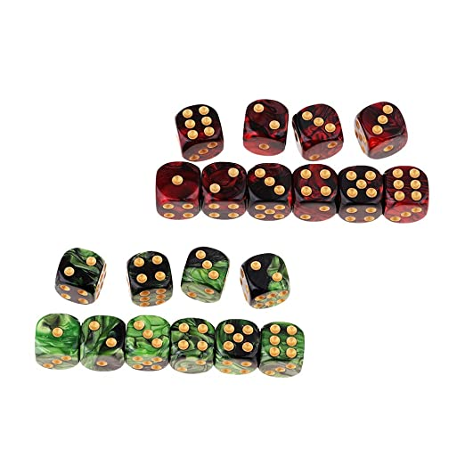 Amazon.com: Fityle 20Pcs 6-Sided Game Dice 16mm Dice for ...