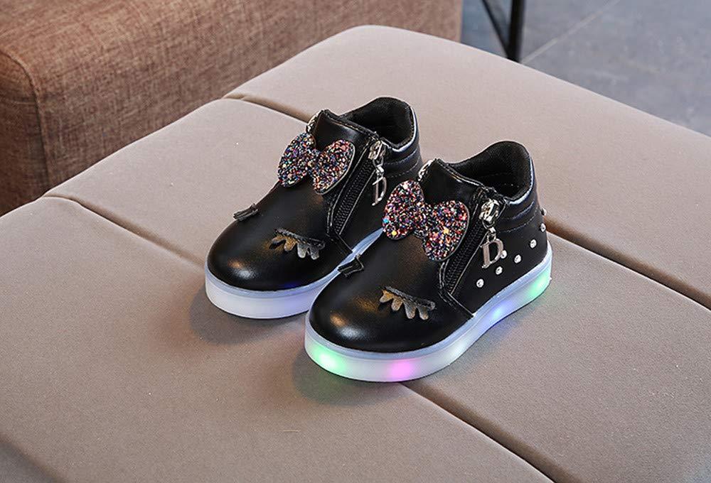 351786d668 Zapatos De Bebé NiñO NiñA,ZARLLE Led Luz Luminosas Flash Zapatos Zapatillas  De Deporte Zapatos De Bebé Antideslizante Botas NiñA Flor Cristal Zapatos  con ...