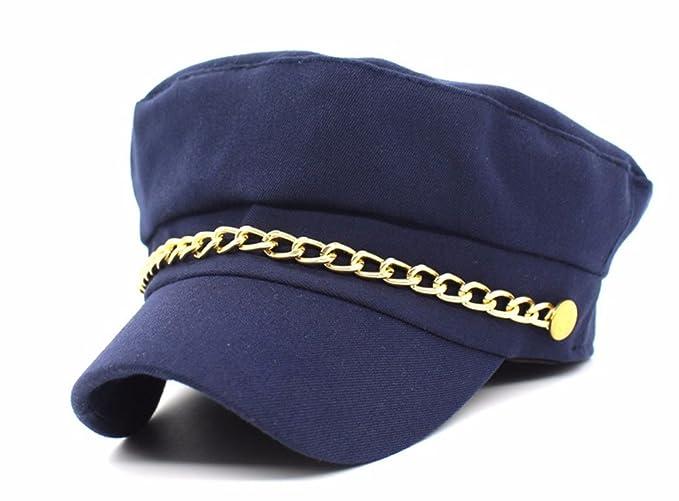 Cerrado Gorras Militares Hombre Mujer Unisexo Monocromático Admiral Marinero Capitán Sombreros lRkxvbe5GA