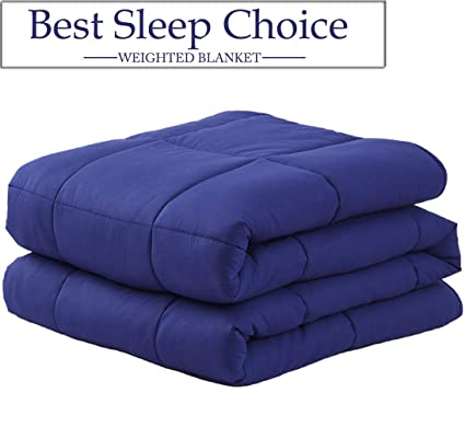 Weighted Blanket 15lbs With Duvet Cover Queen Size For Adult Kid Natural Sleep