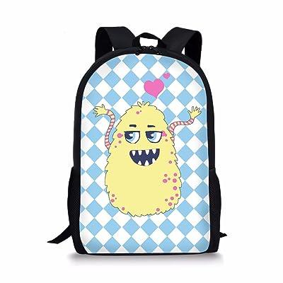 LedBack Cartoon School Backpack Kids Boys Girls 16 Inch Bookbag Lightweight