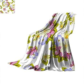 Decke Als Tagesdecke Blumenmuster Nahtloses Muster Aus Mehreren Blumen Und Blattern Zum Gestalten