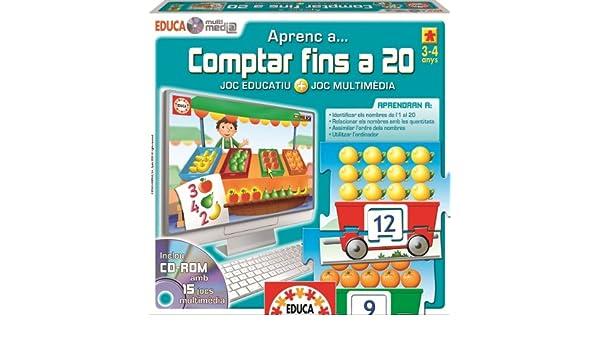 Educa Borrás - Educa Multimèdia Comptar Fins A 20 (14285): Amazon.es: Juguetes y juegos