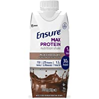 Ensure Max Protein Nutrition Shake with 30g of protein, 1g of Sugar, High Protein Shake, Milk Chocolate, 11 fl oz, 12…