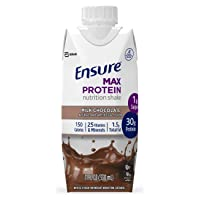 Ensure Max Protein Nutrition Shake with 30g of protein, 1g of Sugar, High Protein...