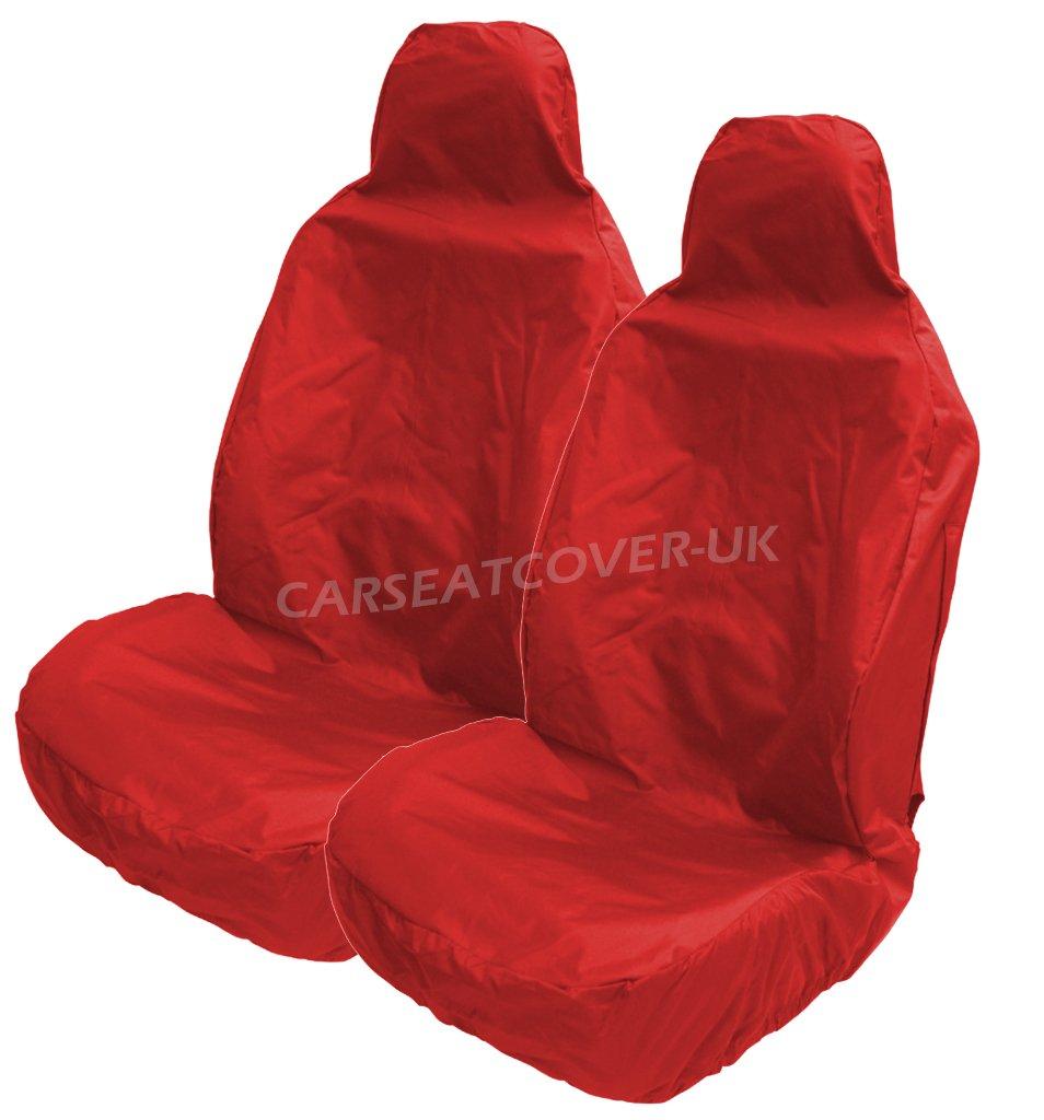 Carseatcover-UK® Coprisedili resistenti e impermeabili, colore rosso–2 anteriori colore rosso-2 anteriori