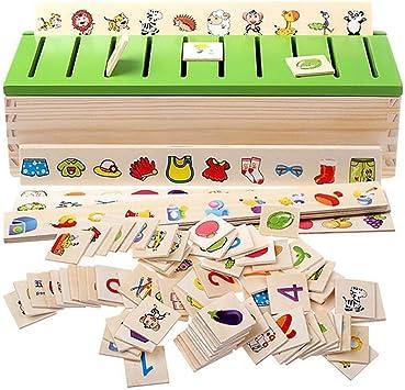 Caja de clasificación de madera Montessori Juguetes educativos ...
