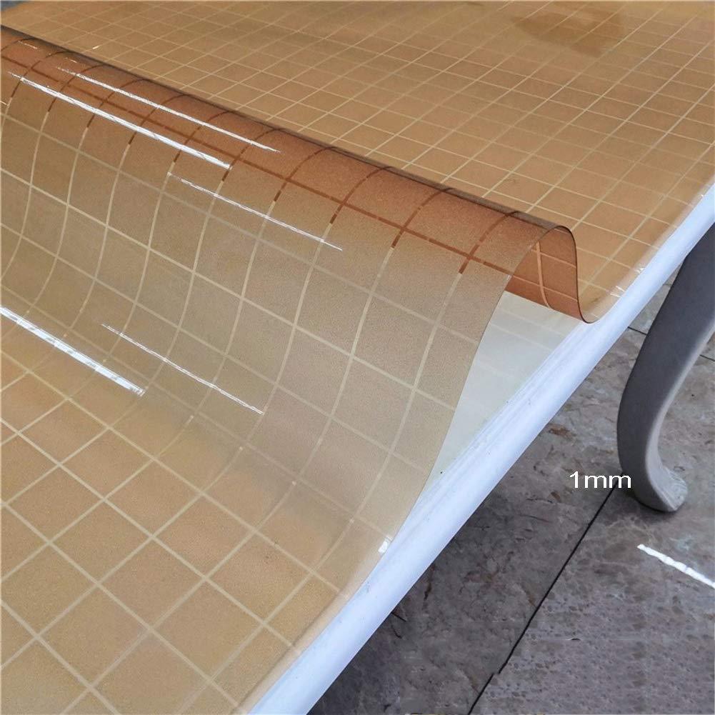 防水PVCテーブルカバープロテクターパッドプラスチックテーブルクロス ダイニングテーブル デスク ラボベンチ マーブルトップ テーブルマットプロテクター 80x150cm(31x59inch) CNZXCO 80x150cm(31x59inch) P B07NKVTD6L