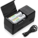 EBL Smart Battery Charger for 2/4 AA AAA Ni-MH Batteries with Power Bank Function (Batterry Not Included)