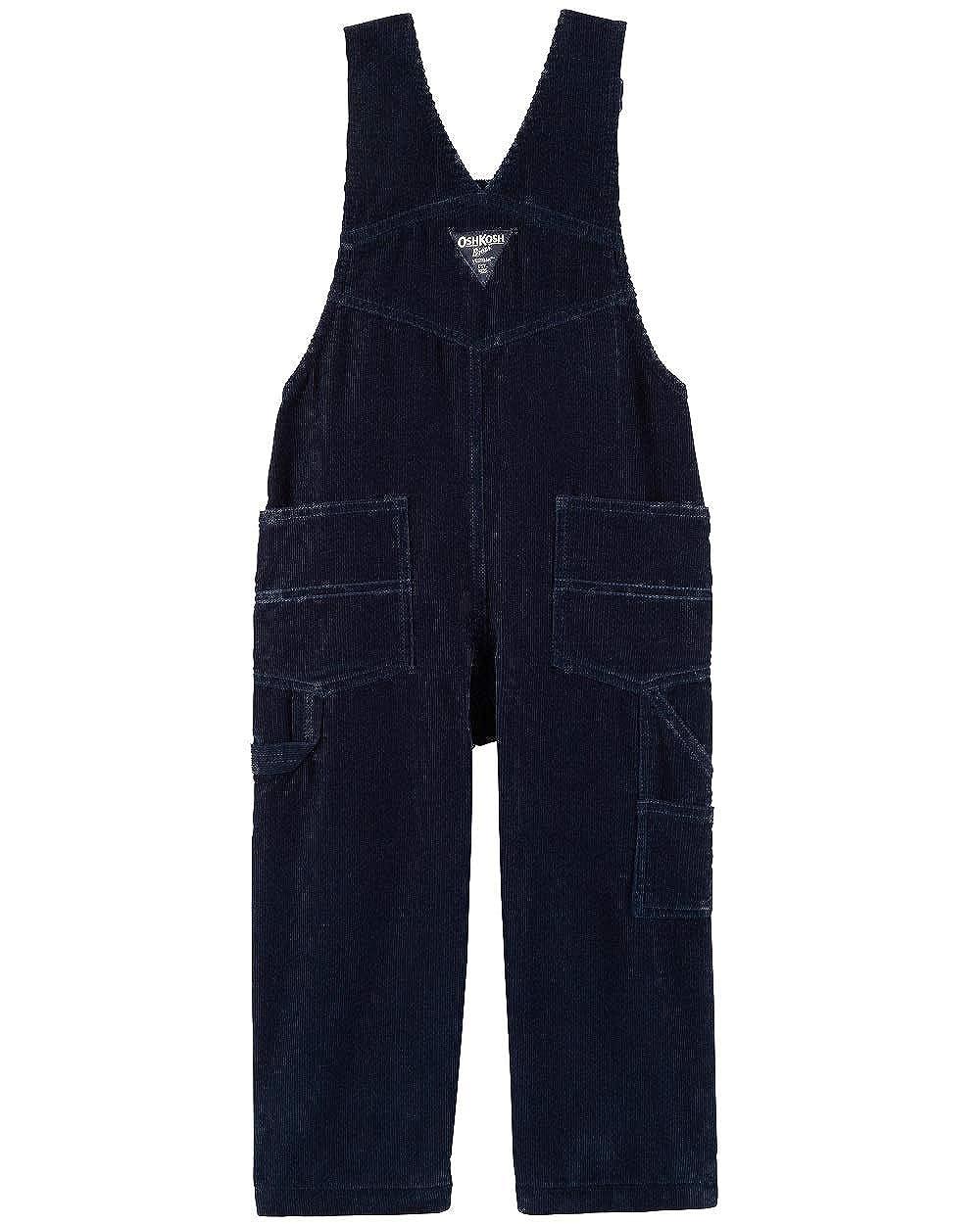 Blue OshKosh BGosh Corduroy Soft Flannel Lined Overalls Size 9-12 Months Navy White