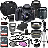 Canon EOS Rebel T6 DSLR Camera Bundle with Canon EF-S 18-55mm f/3.5-5.6 IS II Lens + Canon EF 75-300mm f/4-5.6 III Lens + 2pc SanDisk 32GB Memory Cards + Accessory Kit (CERTIFIED REFURBISHED)