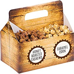 Creative Converting Snack Server Box with Stickers, Cheers & Beers (6-Count)