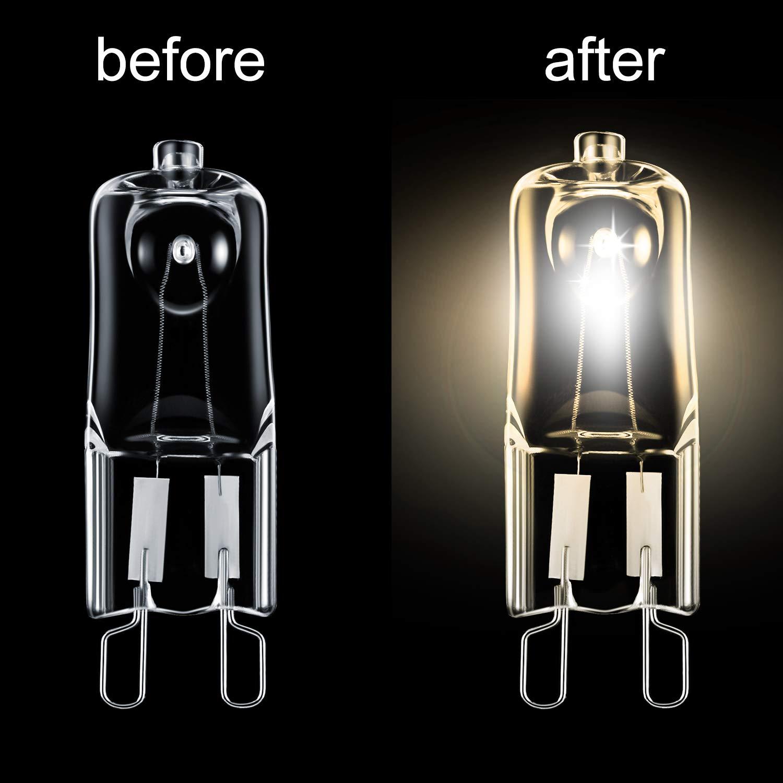33 Watt 220-240 V 12 Pezzi Lampadine Alogene Trasparente Sostituzione della Capsula per Illuminazione del Fornello Energetica Classe C Luci di Segnalazione
