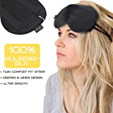 HugSnug Silk Sleep Mask | 100% Natural Mulberry Silk Premium Ultra Soft Eye Mask, Blindfold, Sleeping Aid | For A Deeper, Relaxing and More Restful Nights Sleep