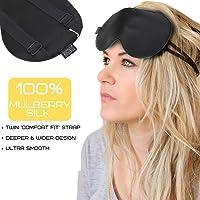 HugSnug Silk Sleep Mask   100% Natural Mulberry Silk Premium Ultra Soft Eye Mask, Blindfold, Sleeping Aid   For A Deeper, Relaxing and More Restful Nights Sleep