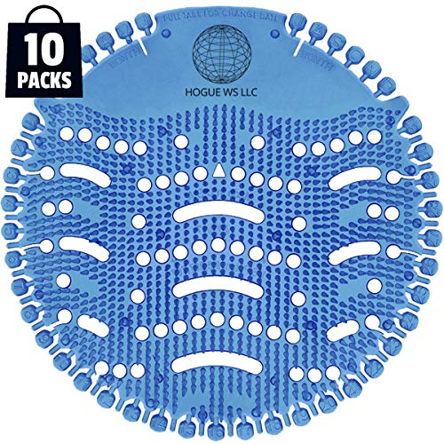 Scented Urinal Screens 10 Pack - Blue Ocean Mist Fragrance - Good for 5,000 Flushes - Fresh Wave 2.0 Anti-Splash & Odor Neutralizer ...