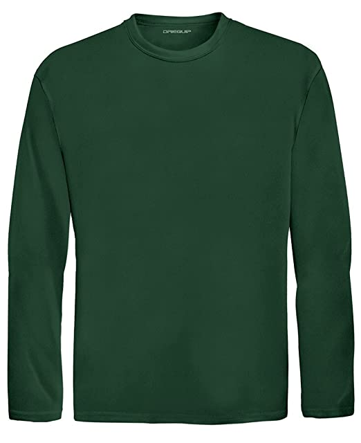 9b6bef67adab Amazon.com: DRI-Equip Youth Long Sleeve Moisture Wicking Athletic Shirts,L-Forest:  Clothing