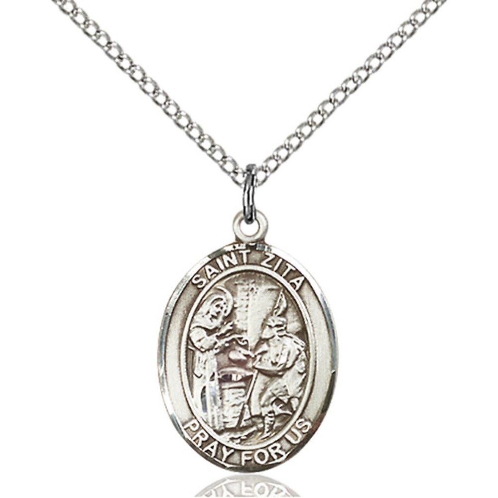 Zita Hand-Crafted Oval Medal Pendant in Sterling Silver Bonyak Jewelry St