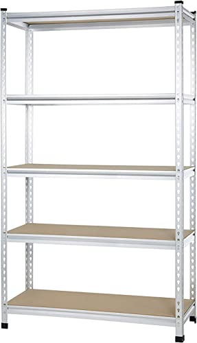 AmazonBasics Medium Duty Storage Shelving Single Post Press Board Shelf, 48 x 18 x 72 Inch, Aluminum