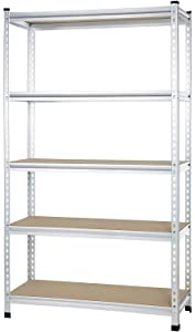 AmazonBasics Medium Duty Storage Shelving Single Post Press Board Shelf, 48 x 18 x 72 Inch, Aluminum