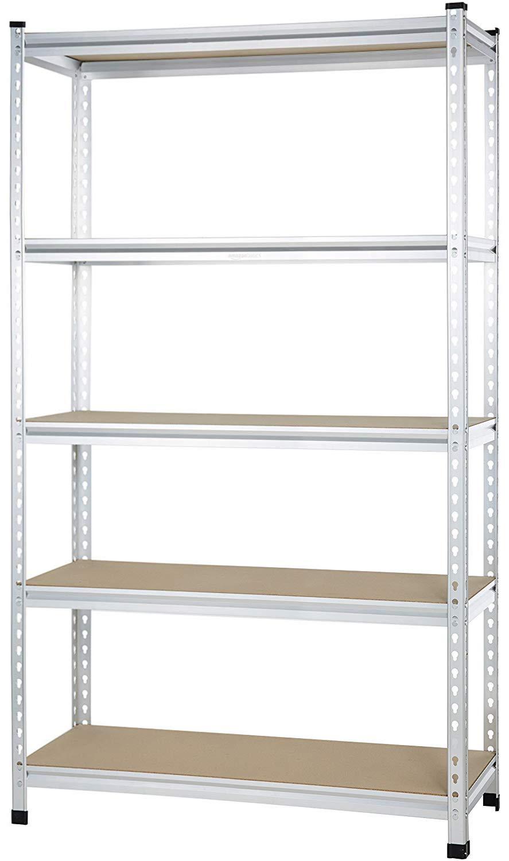 Amazon Basics AMBS05 Shelving, 48 x 18 x 72, Aluminum