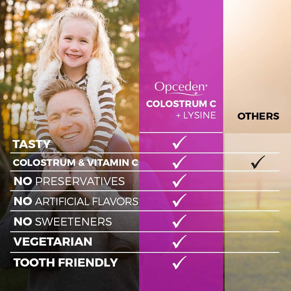 Opceden Kidz Colostrum C + Lysince - Delicious Treat with Superfood for Kids Growth 3x60's