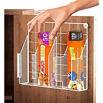 Amazon Com Decobros Kitchen Wrap Organizer Rack White