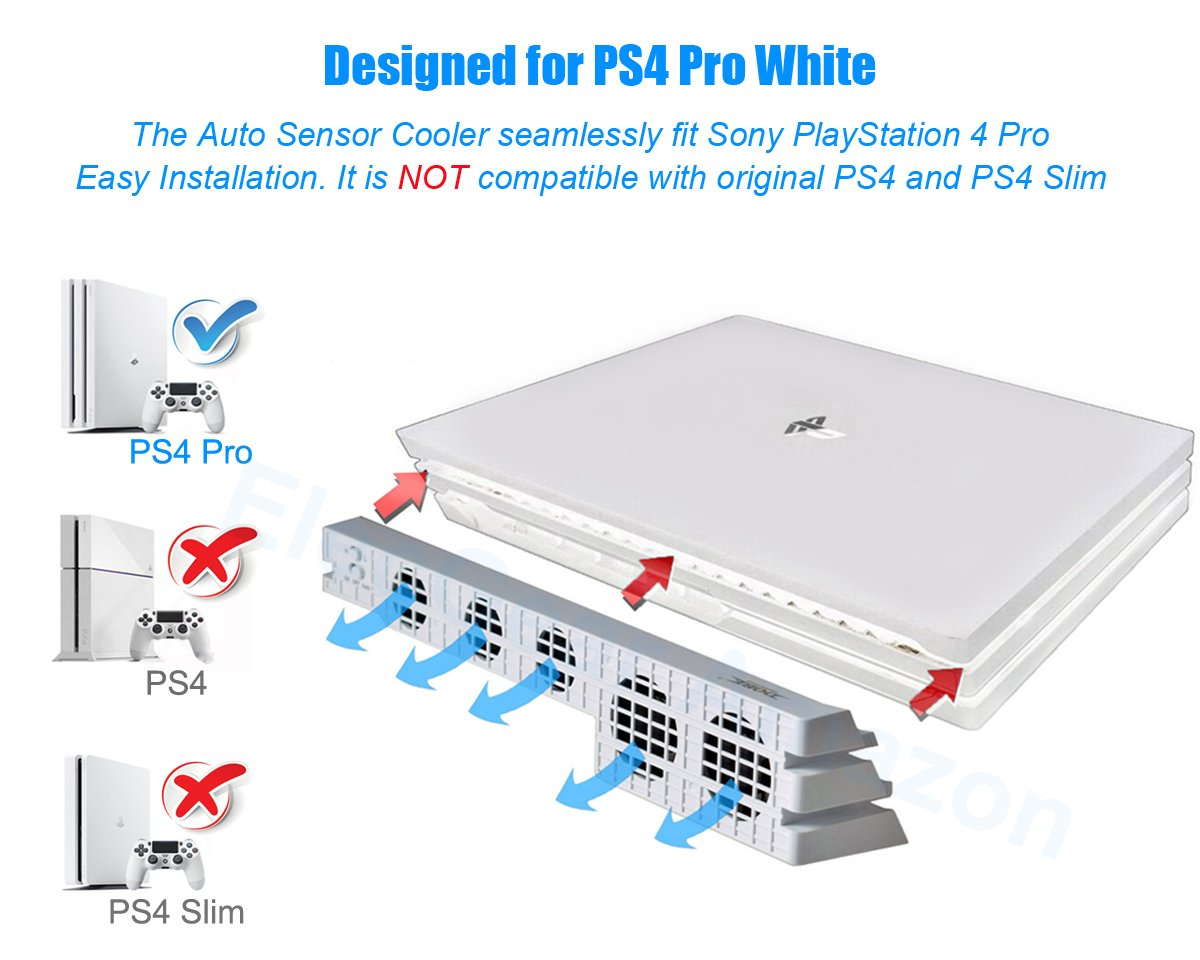 Ps4 Pro Wiring Diagram Trusted Schematics Amazon Com Usb Hub 3 0 For In Glacial White Elecgear 5 Controller