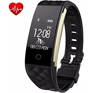 Juboury Fitness Tracker, Heart Rate Activity Tracker Touch Screen Wearable Pedometer Bluetooth Smart Wristand with