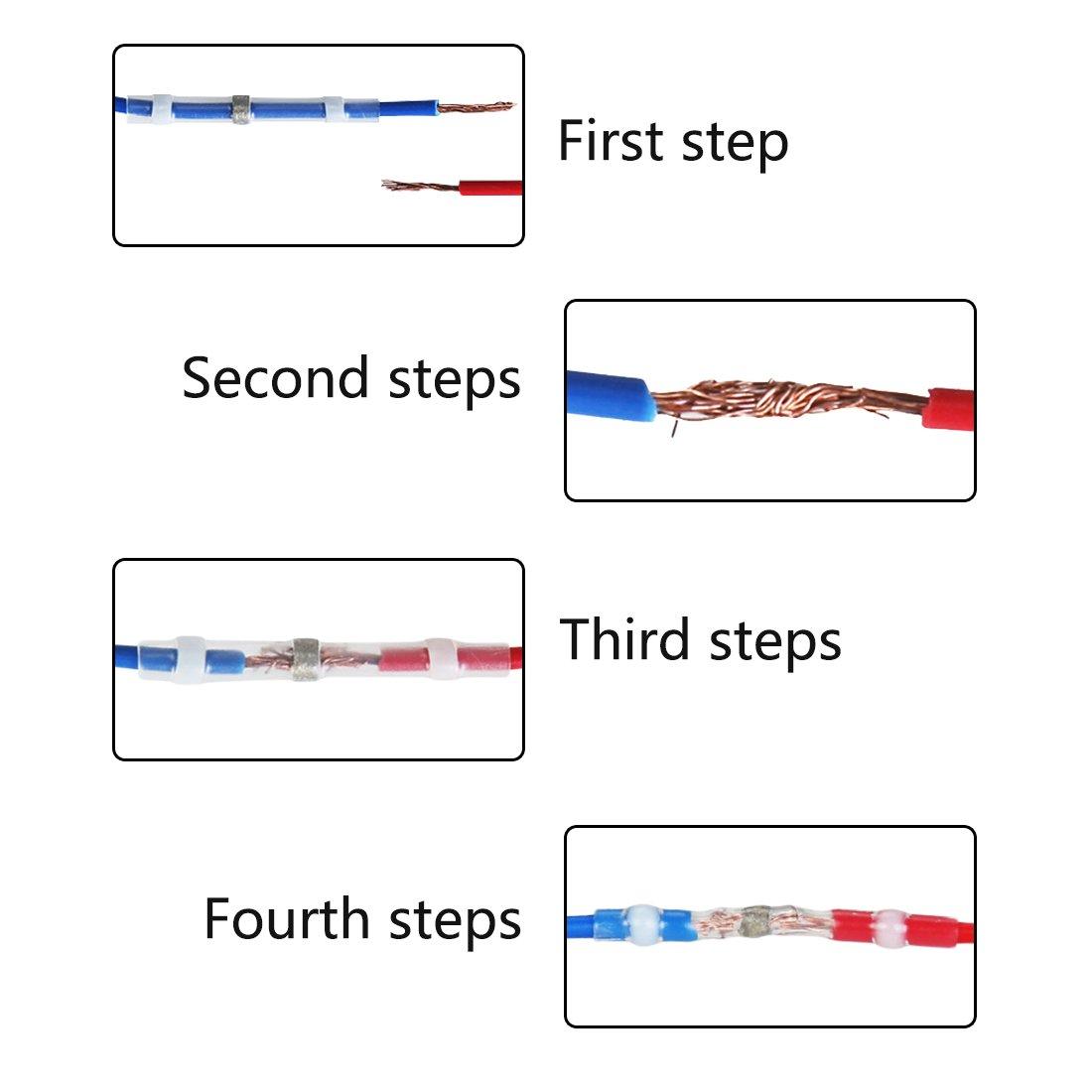 Fil connecteur terminal Blanc 10/pcs Joint /à souder thermor/étractables /étanche