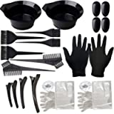 22 Pieces Hair Dye Coloring Kit, Hair Tinting Bowl, Dye Brush, Ear Cover, Gloves for DIY Salon Hair Coloring Bleaching…