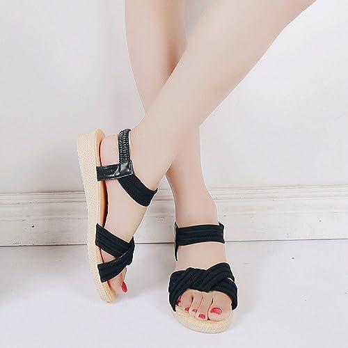 LvRaoo Donna Slingback Sandali da Spiaggia Comfort Peep-Toe Slippers Cinturino Elastico Pantofole (Rosso, Asia 40)