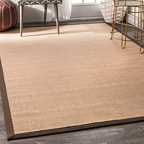nuLOOM Natura Collection Laurel Jute Casuals Natural Fibers Machine Made Area Rug, 2-Feet 6-Inch by 8-Feet, Brown