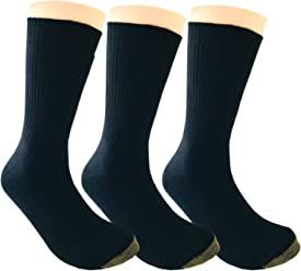 AzWeiler Mens Black Cotton Dress and Suits Multi-Style Double Knit Socks Size 8-12