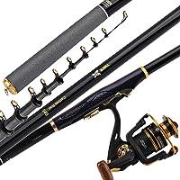 Combinaciones de caña de Pescar y Carrete telescópicas