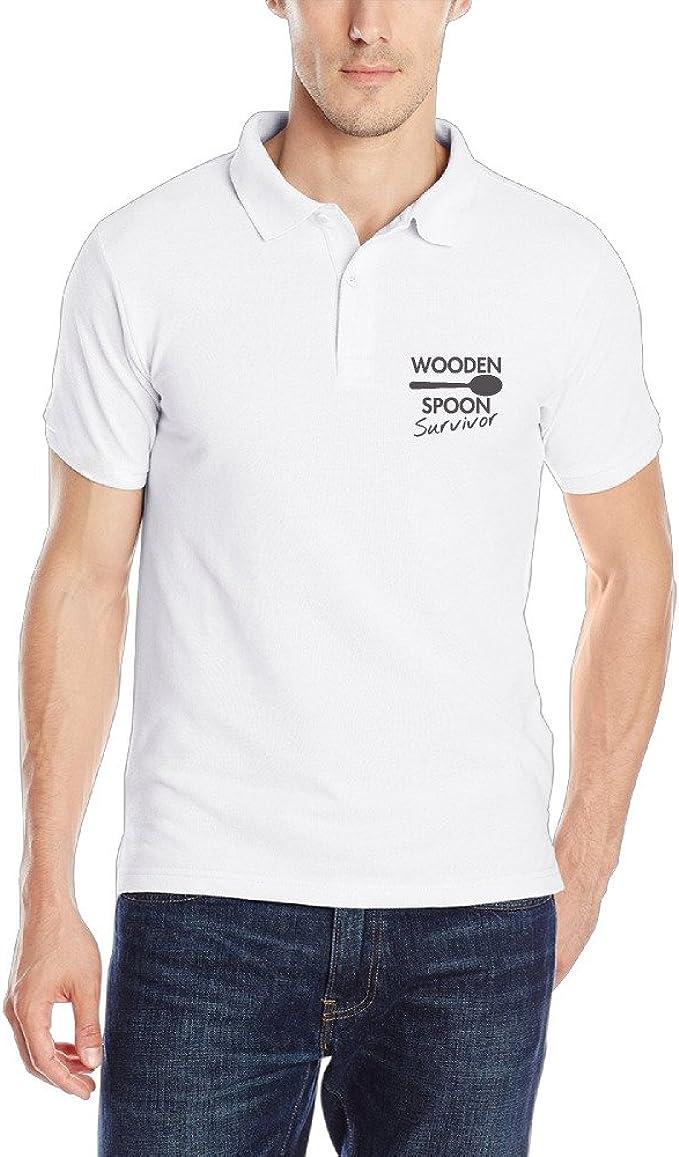 Hombres Golf Polo camisas Wooden Spoon Survivor patrón Logo ...