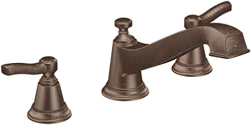 Moen TS923ORB Rothbury Two-Handle Low Arc Roman Tub Faucet without Valve, Oil Rubbed Bronze