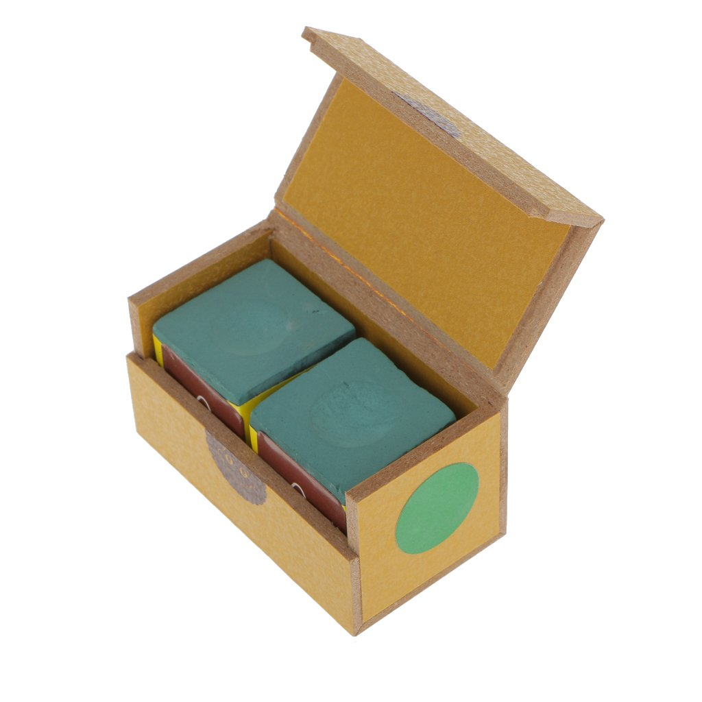 Pack Cubes Pool Cue Tip Table Chalk Billar Accesorios De Billar Azul perfk 2pcs