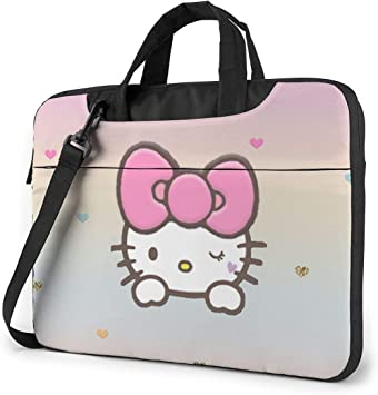Hello Kitty Laptop Sleeve Case Handheld One Shoulder Shockproof Oxford Protective Case//Notebook Computer Pocket Case//Tablet Briefcase Carrying Bag Compatible-13 inch