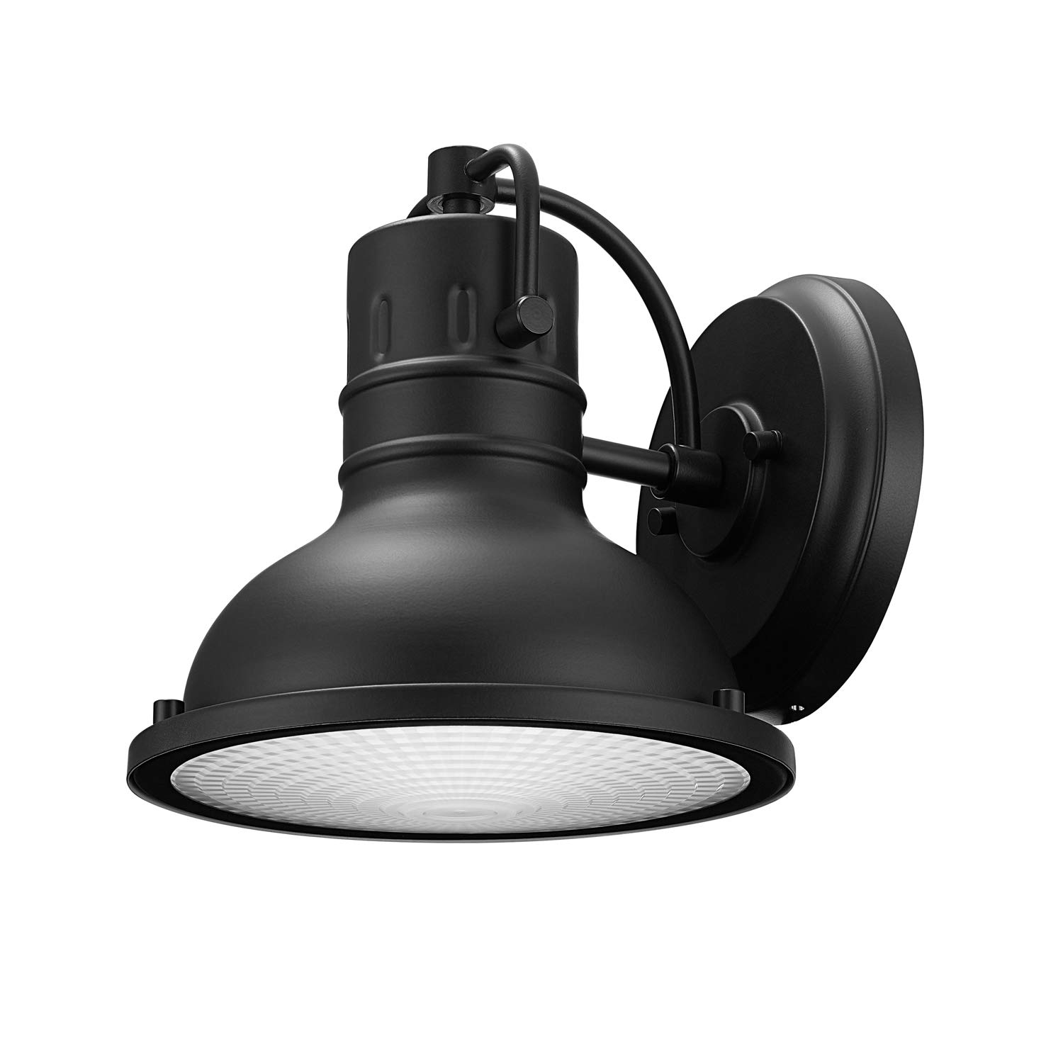Globe Electric 44157 Harbor Outdoor Wall Sconce, Matte Black Finish, Clear Plastic Diffuser