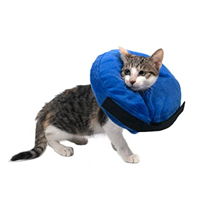 warmpet Soft Cat Dog Cone Recovery Collars Protective Inflatable Collar