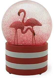 c7283bb5bb037 Amazon.com: Talking Tables Fun Mix Flamingo Snowglobe: Toys & Games