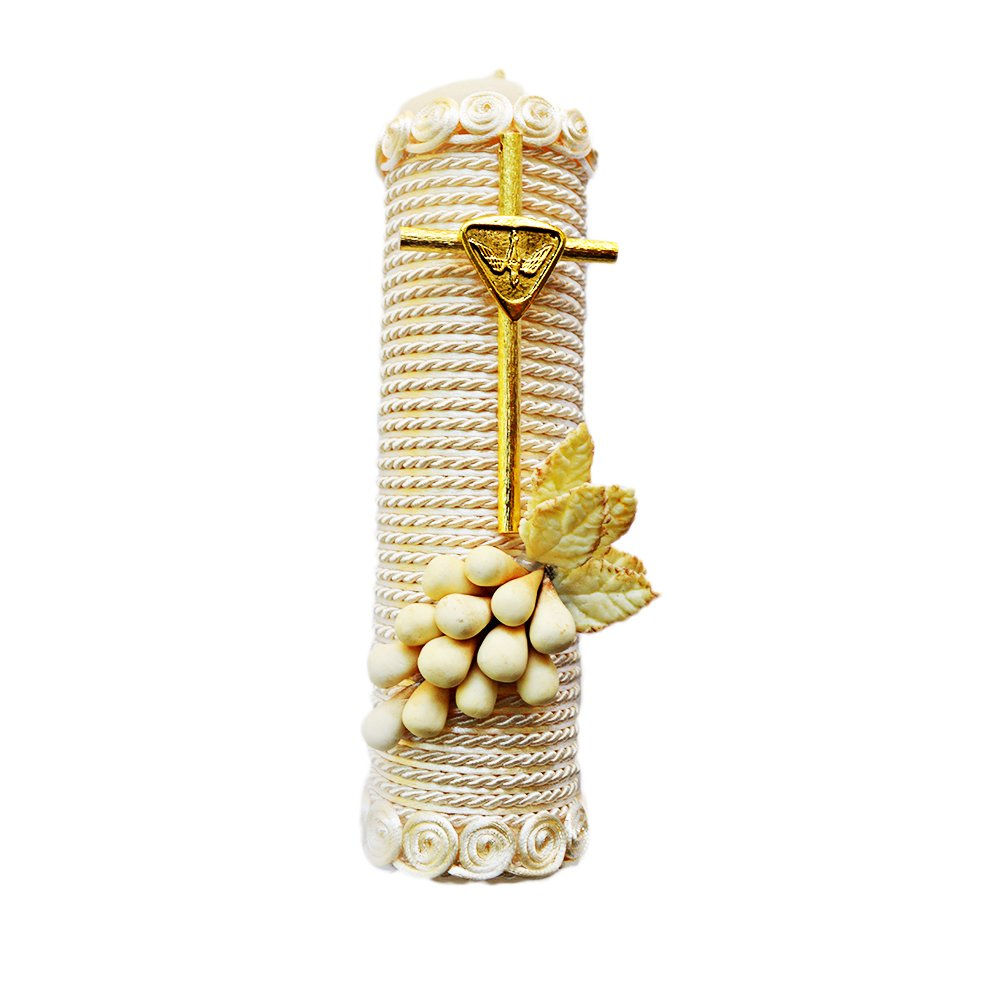 Amazon.com : Handmade Catholic Baptism Kit Including Towel, Candle and Shell Kit De Bautizo Religious Gift (Modelo 8, White) : Baby