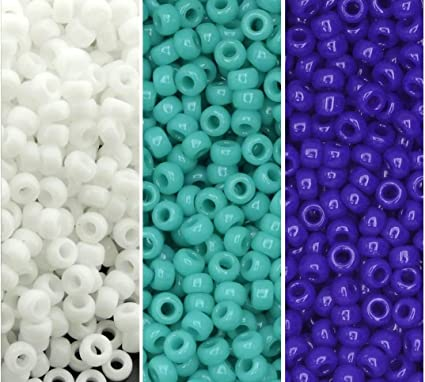 *3 FOR 2* Mixed Colours 50 x Opaque Flower Pony Beads