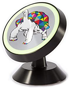 Magnetic Phone Car Mount-Rainbow Turtle Dash Mount Cell Phone Holder with A Strong Magnet-360 Degree Rotation-for Women Men