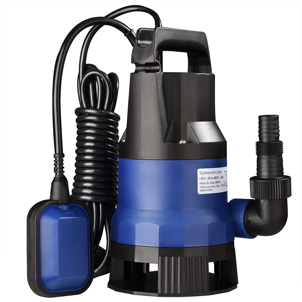 Yescom 1/2 HP 2112GPH 400W Submersible Dirty Clean Water Pump Swimming Pool Pond Heavy Duty Water Transfer by Yescom