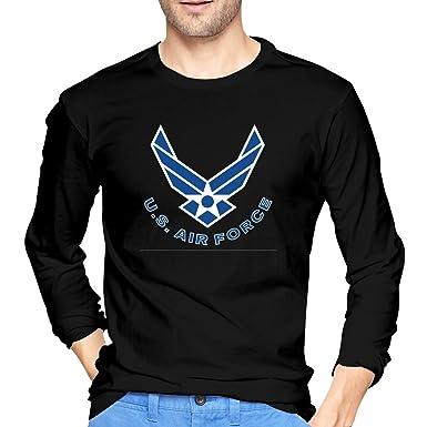 U.S Air Force Military Men/'s Blue Long Sleeve Shirt