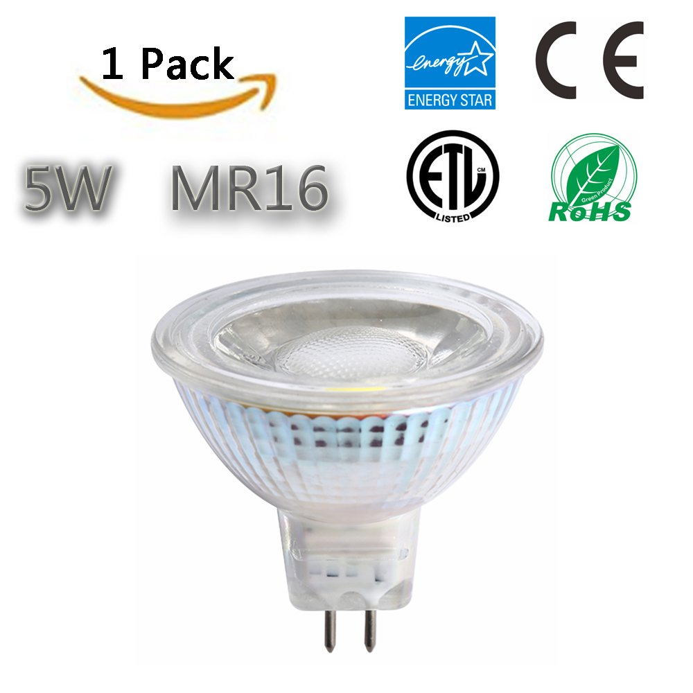 ,36 Degree Beam Angle,CRI 80+,450 Lumen,ETL-Listed and ENERGY STAR Qualified,Pack of 10 Dimmable Bulbs,3000K TSCDY MR16 LED bulbs,5W Warm White 50W Equivalent
